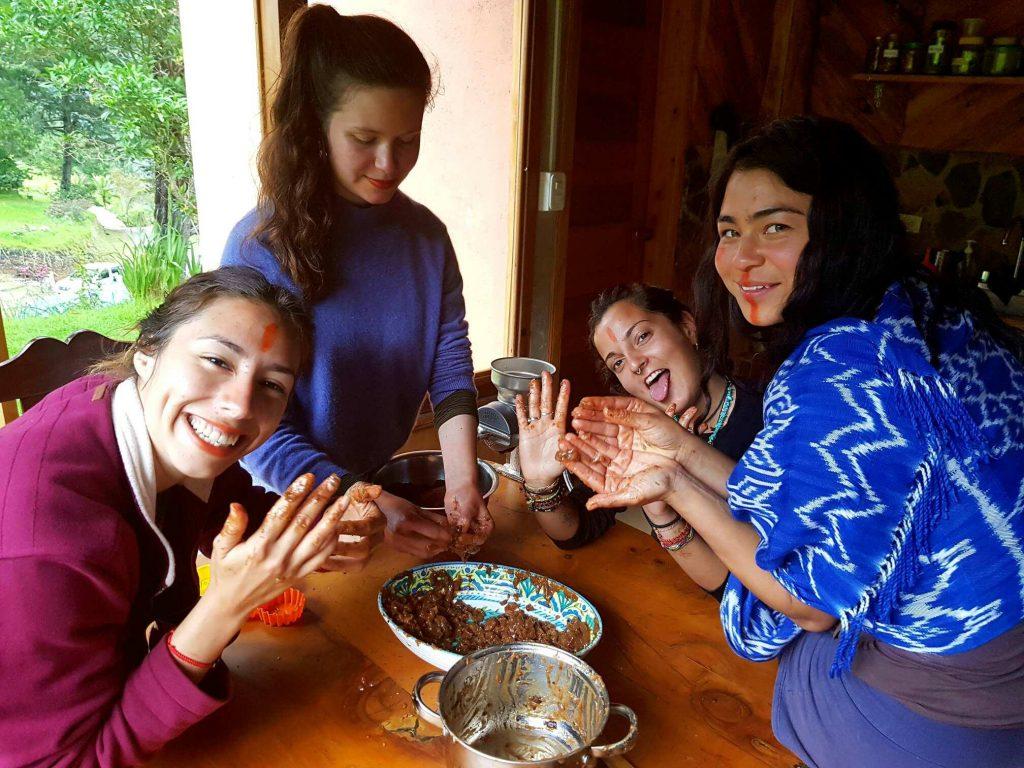 cacao making at Alquimia